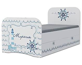 Детская кровать Klukva Морячок Стандарт KE-16Y(ящик ЛДСП выкатной)