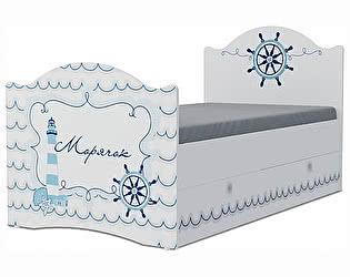 Детская кровать Klukva Морячок Эксклюзив KХ-16Y (ящик ЛДСП выкатной)