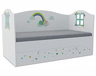 Детская кровать Klukva Потапыч Домик KD-16Y (ящик ЛДСП выкатной)