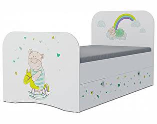 Детская кровать Klukva Потапыч Стандарт KE-16Y(ящик ЛДСП выкатной)