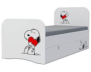 Детская кровать Klukva Снупи Стандарт KE-16Y(ящик ЛДСП выкатной)