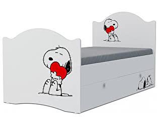 Детская кровать Klukva Снупи Эксклюзив KХ-16Y (ящик ЛДСП выкатной)