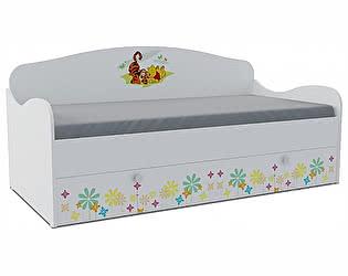 Детская кровать-диван Klukva Винни Пух KS-16Y (ящик ЛДСП выкатной)