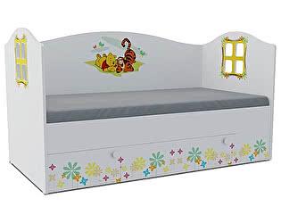 Детская кровать Klukva Винни Пух Домик KD-16Y (ящик ЛДСП выкатной)