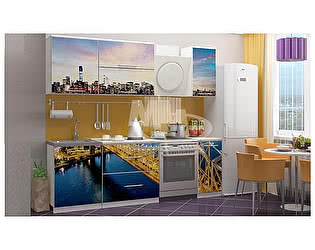Кухня с фотопечатью Миф Город 1