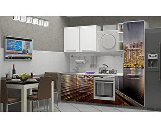 Кухня с фотопечатью Миф Город 8