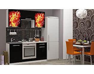 Кухня с фотопечатью Миф Огненный цветок
