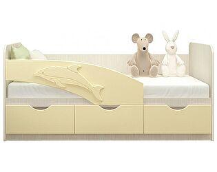 Детская кровать Московский Дом Мебели Дельфин 80/160, ваниль