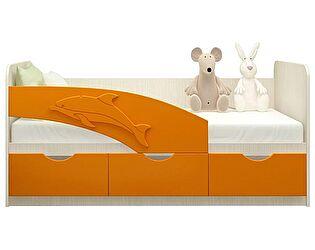 Детская кровать Московский Дом Мебели Дельфин 80/160, оранж