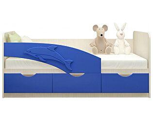Детская кровать Московский Дом Мебели Дельфин 80/160, синяя