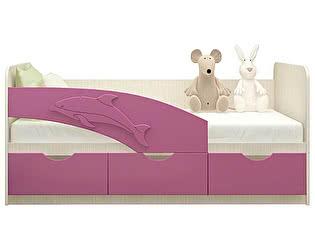 Детская кровать Московский Дом Мебели Дельфин 80/160, сиреневая