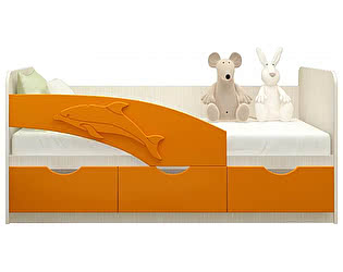 Детская кровать Московский Дом Мебели Дельфин 80/180, оранж