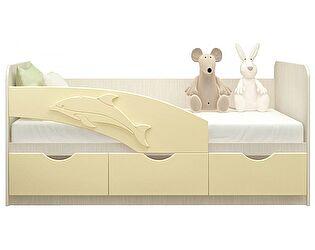 Детская кровать Московский Дом Мебели Дельфин 80/200, ваниль