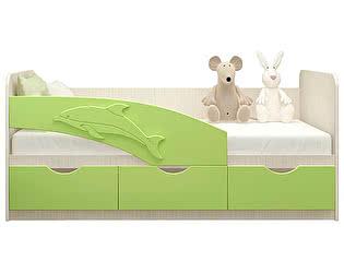 Детская кровать Московский Дом Мебели Дельфин 80/200, салатовая