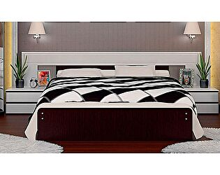 Кровать VitaMebel Vivo-11 (160х200) с прикроватными тумбами