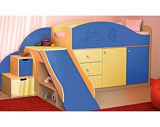 Кровать с лесенкой VitaMebel Vitamin P, МДФ матовый (70х160)