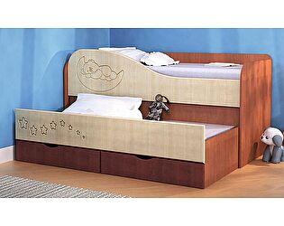 Детская двухъярусная кровать VitaMebel с выдвижной секцией (80х190)