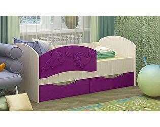 Детская кровать Регион 58 Дельфин-3 МДФ сиреневый (80х160)