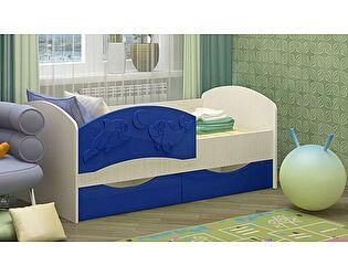 Детская кровать Регион 58 Дельфин-3 МДФ темно-синий (80х160)
