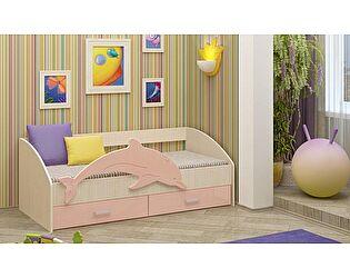 Детская кровать Регион 58 Дельфин-4 МДФ розовый (80х160)