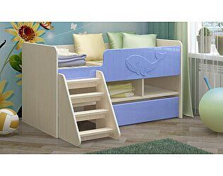 Детская кровать Регион 58 Юниор-3 МДФ голубой (700х1400)