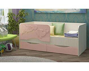 Детская кровать Регион 58 Дельфин-2 МДФ розовый (80х160)