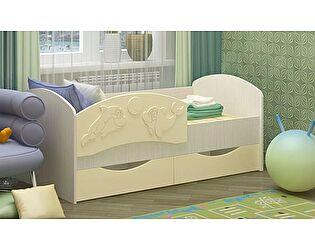 Детская кровать Регион 58 Дельфин-3 МДФ ваниль (80х160)