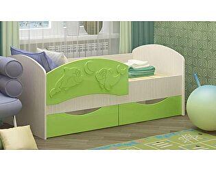 Детская кровать Регион 58 Дельфин-3 МДФ салатовый (80х160)