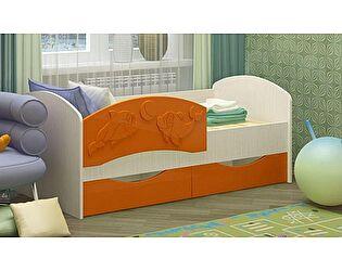 Детская кровать Регион 58 Дельфин-3 МДФ оранжевый (80х160)