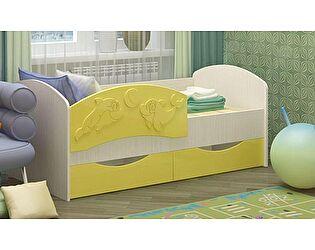 Детская кровать Регион 58 Дельфин-3 МДФ золотой (80х160)