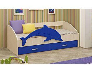 Детская кровать Регион 58 Дельфин-4 МДФ синий (80х160)