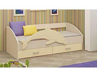 Детская кровать Регион 58 Дельфин-4 МДФ ваниль (80х160)