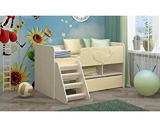 Детская кровать Регион 58 Юниор-3 ваниль (700х1400)