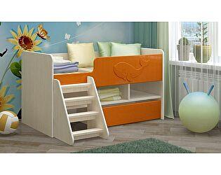 Детская кровать Регион 58 Юниор-3 МДФ оранжевый (700х1400)