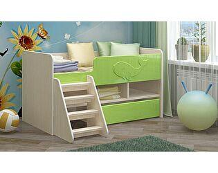 Детская кровать Регион 58 Юниор-3 МДФ салатный (700х1400)