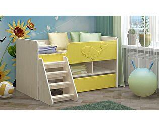 Детская кровать Регион 58 Юниор-3 МДФ золотой (700х1400)