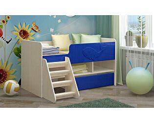 Детская кровать Регион 58  Юниор-3 МДФ, тёмно-синий (700х1400)