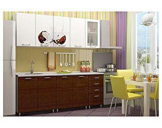 Кухня с фотопечатью Регион 58 Баунти со стеклостворкой 2,0 м МДФ