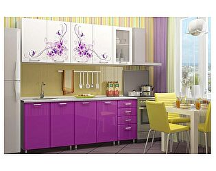 Кухня с фотопечатью Регион 58 Вдохновение со стеклостворкой 2,0 м МДФ