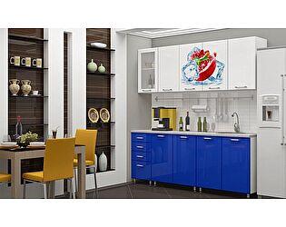 Кухня с фотопечатью Регион 58 Гранат со стеклостворкой 2,0 м МДФ