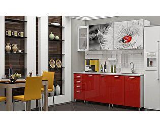 Кухня с фотопечатью Регион 58 Одуванчик со стеклостворкой 2,0 м МДФ