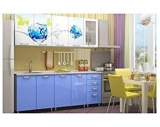 Кухня с фотопечатью Регион 58 Фреш со стеклостворкой 2,0 м МДФ
