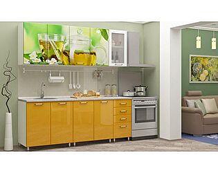 Кухня с фотопечатью Регион 58 Чайник со стеклостворкой 2,0 м МДФ