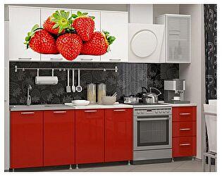Кухня с фотопечатью Миф Клубника 2,0 м ЛДСП
