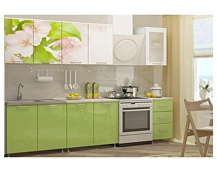 Кухня с фотопечатью Миф Яблоневый цвет 2,0 м