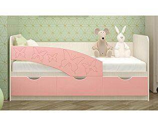 Купить кровать Московский Дом Мебели Бабочки 80/180, розовый