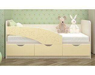 Купить кровать Московский Дом Мебели Бабочки 80/180, ваниль