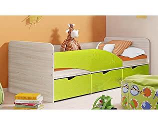 Детская кровать Диал Бриз-3 80х190 (лайм волна)