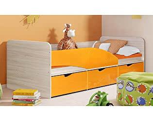 Детская кровать Диал Бриз-3 80х190 (манго волна)