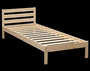 Кровать детская Аджио ЭКО-7 из массива с укороченной спинкой 70/190